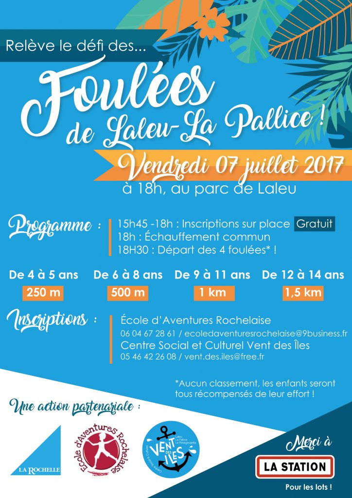 Affiche Les Foulées de Laleu La Pallice 07.07.17