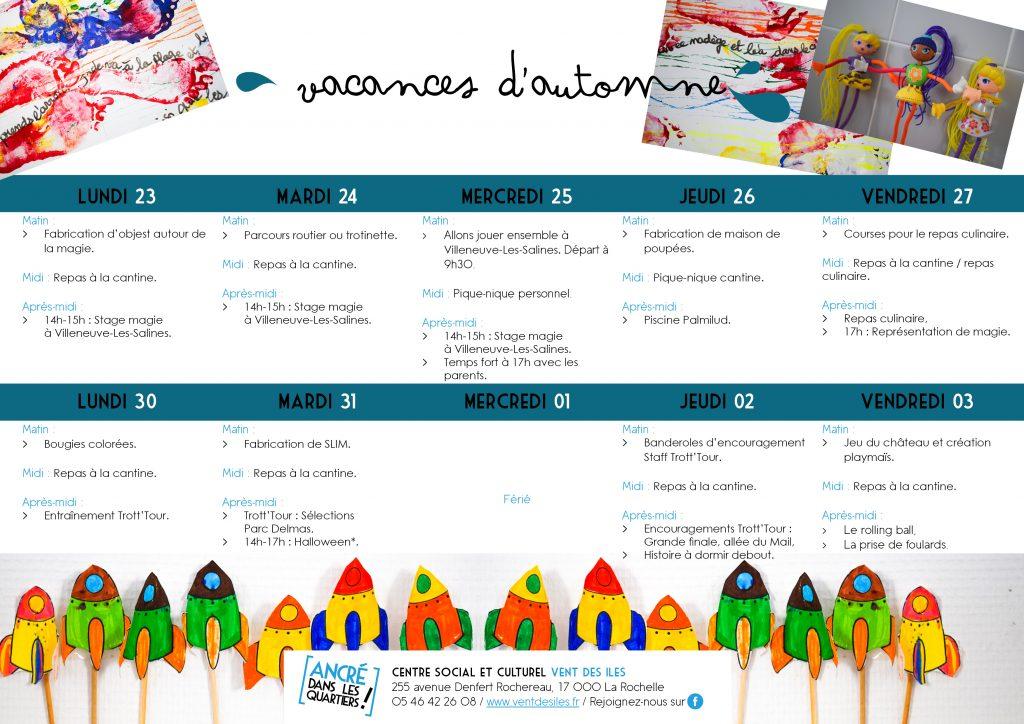 Programmes automne 2017